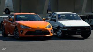 GTsport 200馬力のAE86とGT86のドリフトどっちが速い?