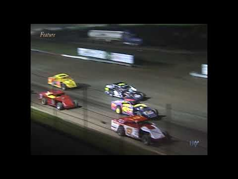 Full race from the IMCA Modified division at Hartford Speedway Park in MI May 24, 2002. - dirt track racing video image