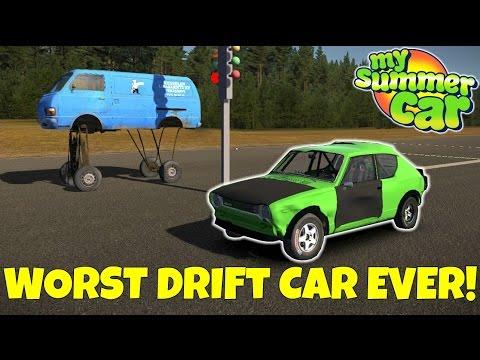WORST DRIFT CAR EVER & VAN EXPLOSION! -  My Summer Car Gameplay Mods - EP 21