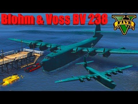 GTA V: Blohm & Voss BV 238 Bomber Landing to Sea / Water Stunning Compilation