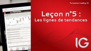 Leçon n°5 : Les lignes de tendance - Formation trading IG