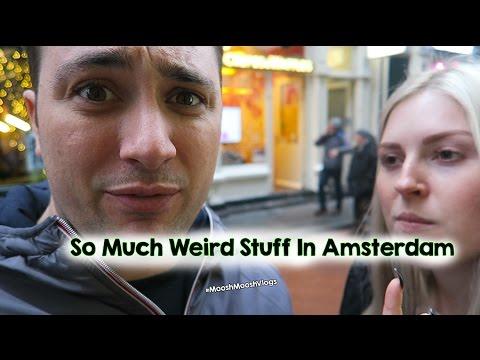 So Much Weird Stuff In Amsterdam | MooshMooshVlogs