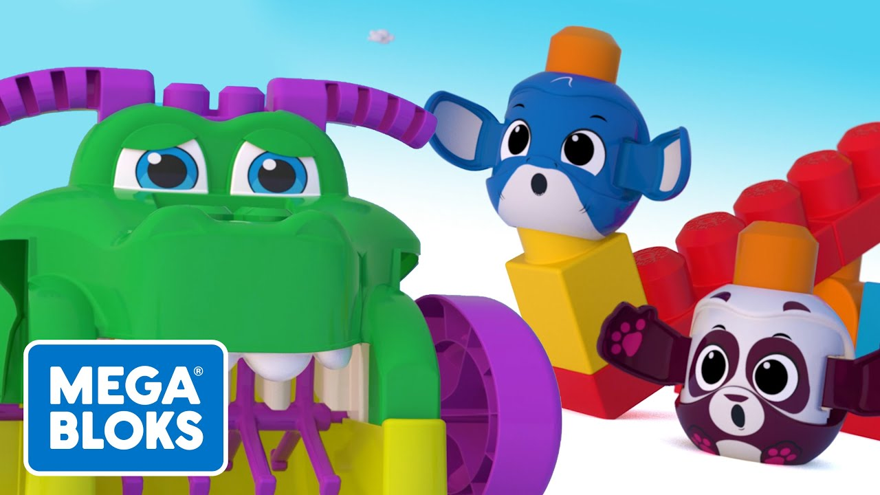 Mega Bloks™ - Slow Down, Croc! | Songs and Cartoons For Kids | Fisher-Price | Learning For Kids