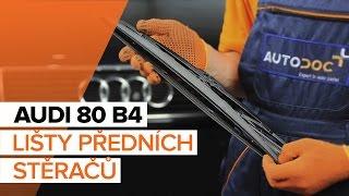 Jak vyměnit lišty předních stěračů na AUDI 80 B4 [NÁVOD]