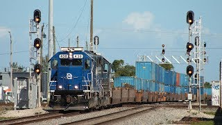 3 Florida East Coast Trains in LESS THAN 45 Minutes!