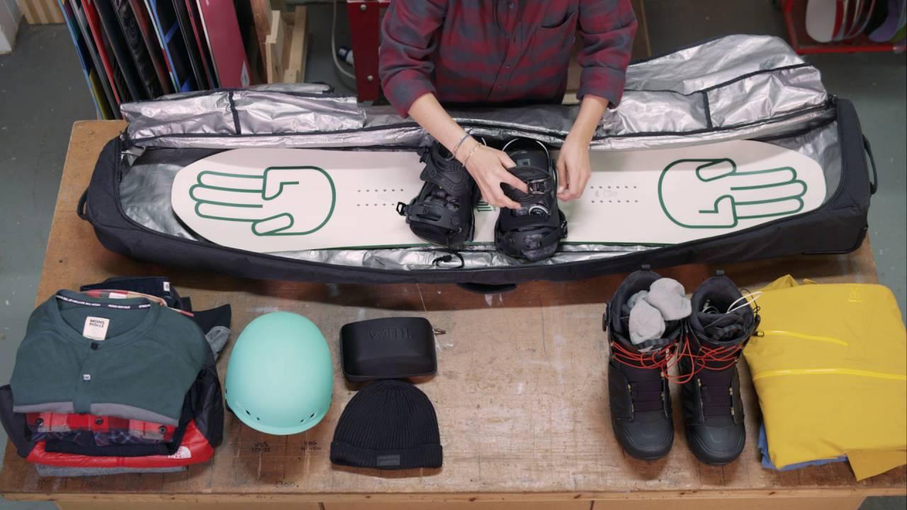 b6f17c918b How To Pack A Snowboard Bag