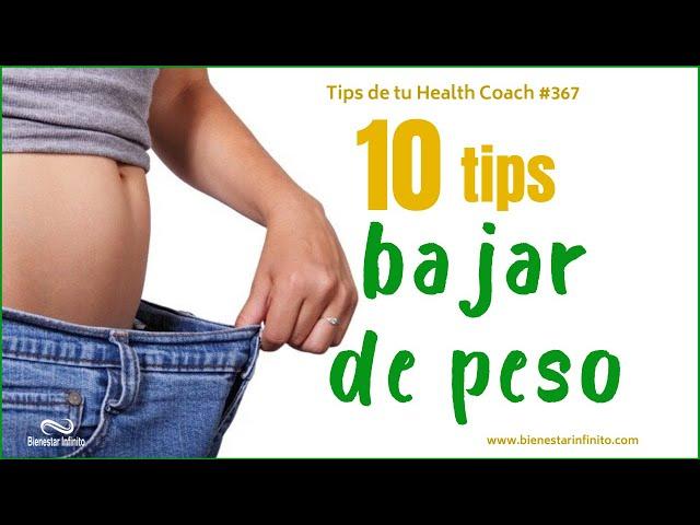 10 tips para bajr de peso