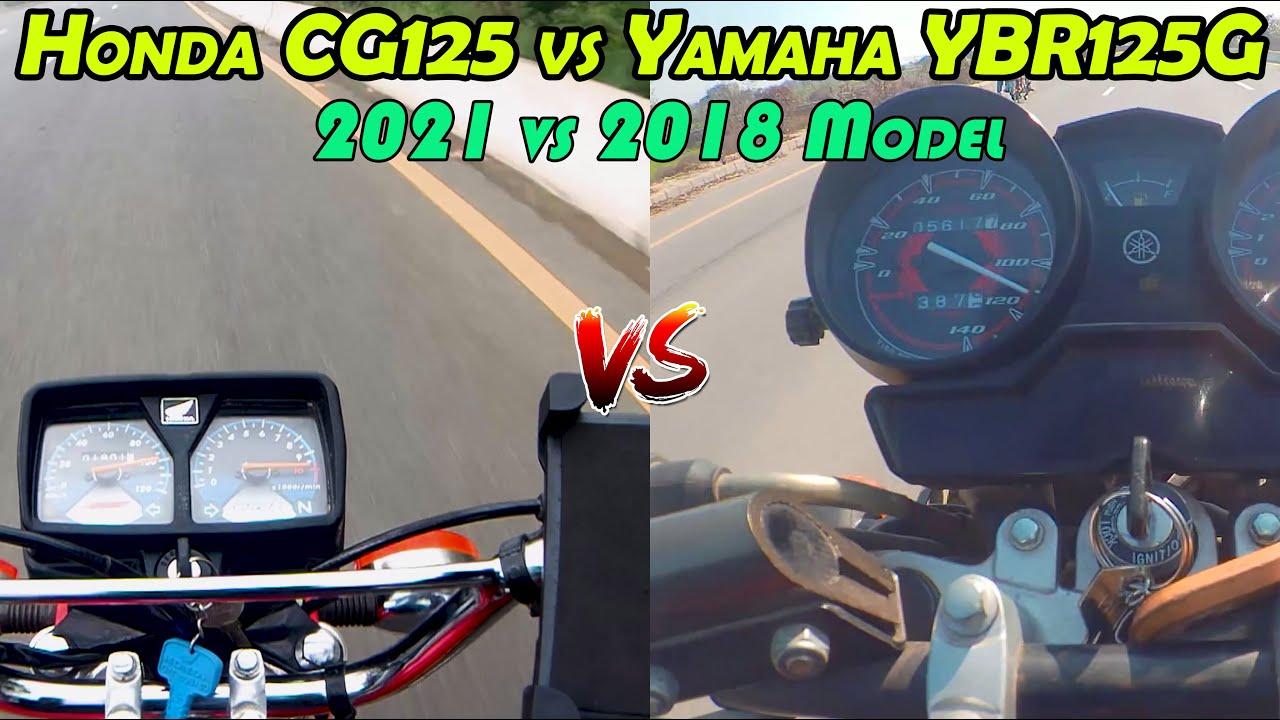 Honda CG 125 vs Yamaha YBR125G Top speed Comparison || Yamaha vs Honda Comparison