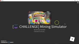 ROBLOX #1 Mining Simulator Que Buen Minero