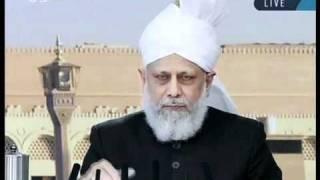 (Urdu) Mirza Masroor Ahmad Sb the Khalifa of Ahmadiyya Muslim Jamaat at Jalsa Salaana Qadian 2011