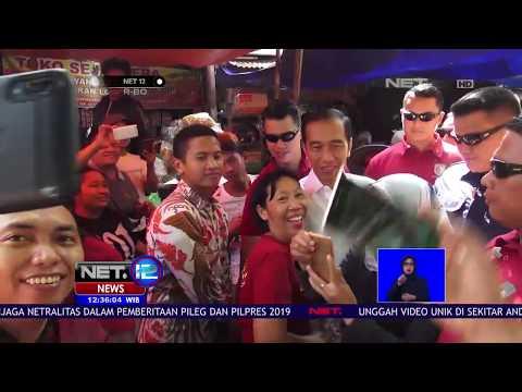 Presiden Jokowi Disambut Pedagang Perempuan Saat Blusukan Ke Pasar   NET12 Mp3
