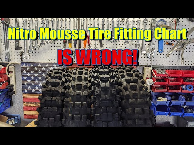 Nuetech Mousse bib Tire Fitting chart is not always right, Kenda Trackmaster, IRC Gekkota, Dunlop