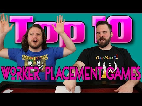 Top 10 Worker Placement Games!!