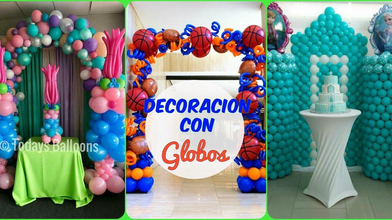 DECORACION CON GLOBOSFORMASFIGURASFIESTAS INFANTILESGLOBOS