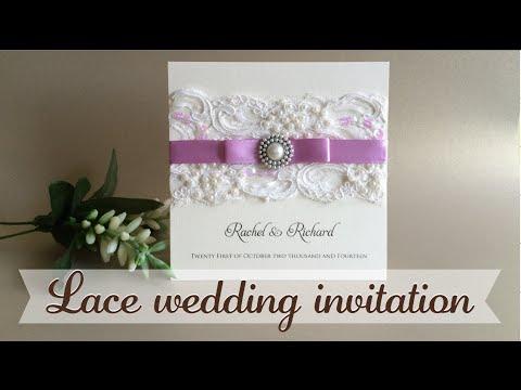 Invitación Con Encaje Lace Wedding Invitation