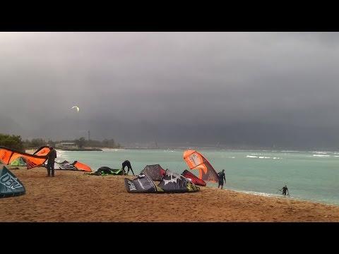 Kite Boarding  On Maui, Hawaii In November 2014