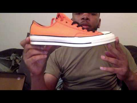 free shipping 8bd79 64d0a Converse Chuck Taylor All-Star 70s Ox Vince Staples Orange STYLE 161254C -  YouTube