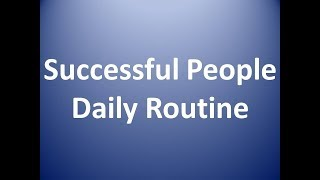 morning routine of successful people
