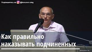Торсунов О.Г.  Как правильно наказывать подчиненных