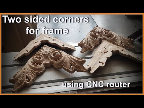 Two sided corners for frame with CNC router