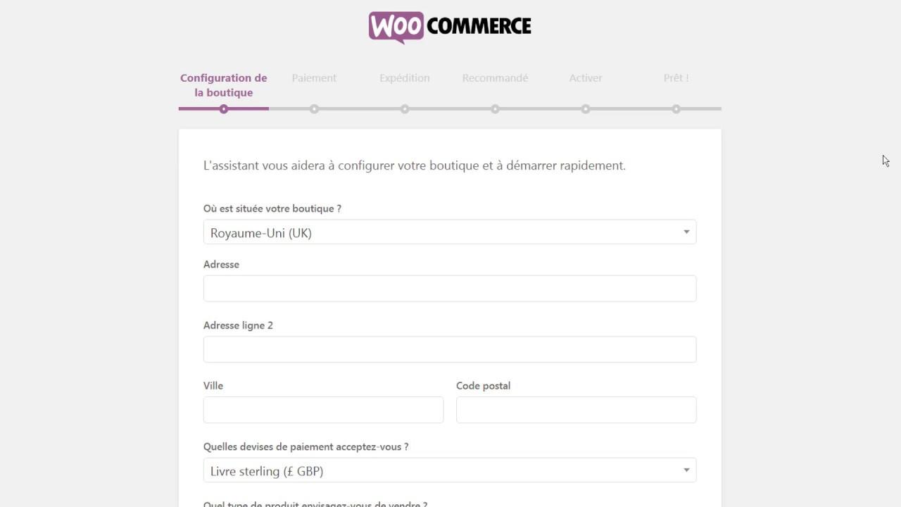 #2 WooCommerce - Installer WooCommerce (Stripe, PayPal, Taxes automatiséés  et Jetpack)
