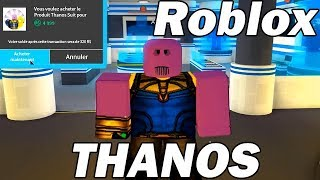 I buy Thanos 4999 Robux on Roblox! Super Hero Simulator