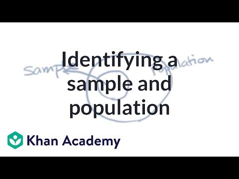 Identifying A Sample And Population   Study Design   AP Statistics   Khan Academy