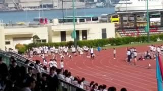 Hpccss開平中學校運會 2016 男甲100米初賽第三組