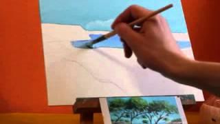 Урок №2 Рисование маслом. Рисуем морской пейзаж художника Жан-Марка Янячика
