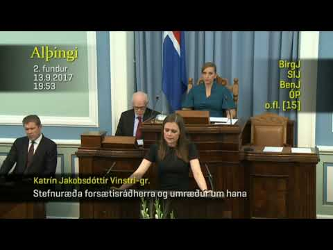 Katrín Jakobsdóttir í september 2017