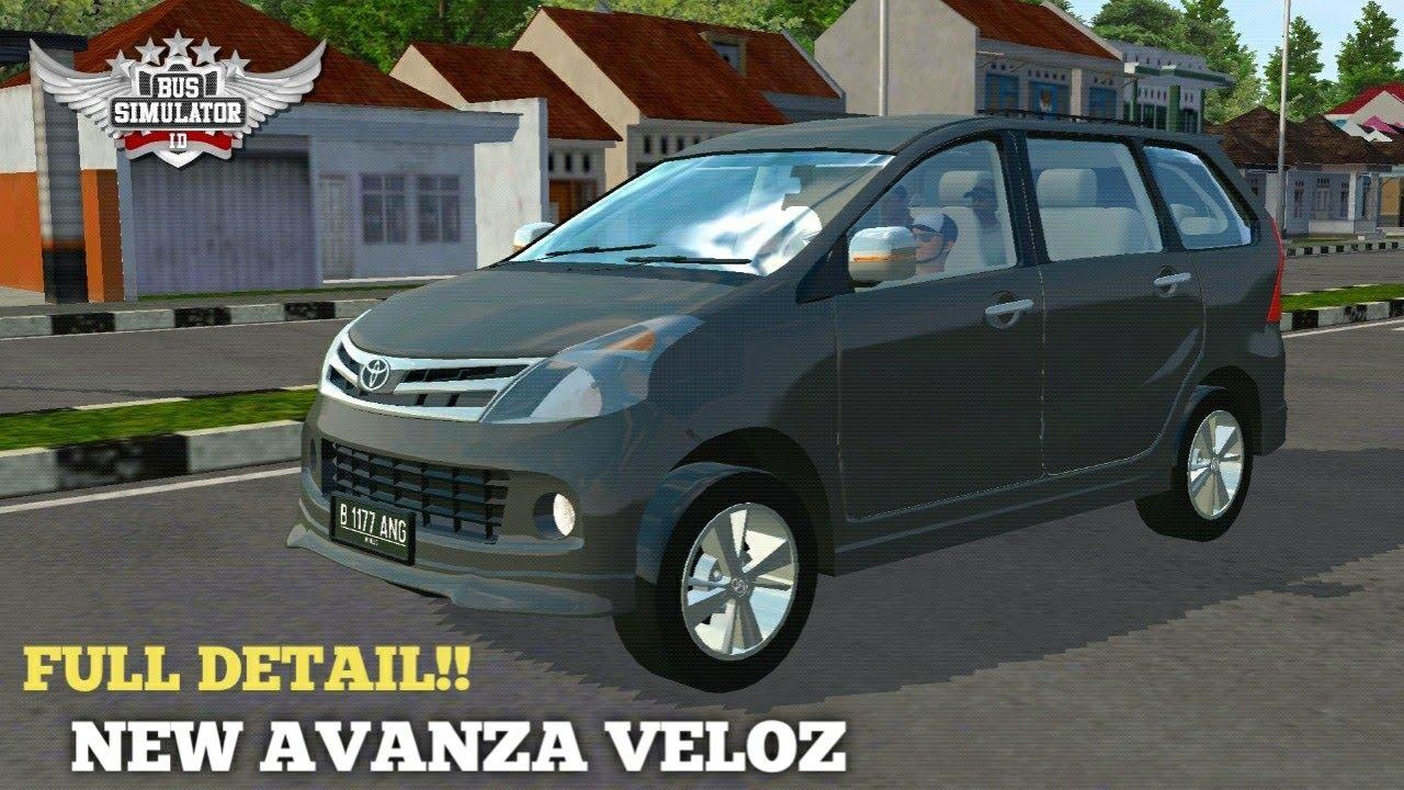 Mod Bussid Mobil Toyota Avanza Veloz Full Detail Terbaru Bussid Youtube