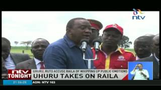 Uhuru takes on Raila and talks on grand graft in government