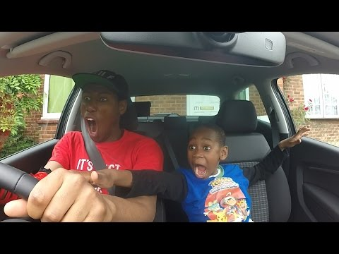 CAR CRASH PRANK ON 8 YEAR OLD  **PRANK WARS** (HE FREAKED OUT)