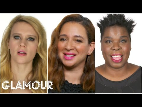 Thumbnail: The Women of SNL Reveal Who Makes Them Break Character - Glamour