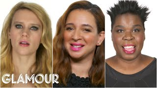 Repeat youtube video The Women of SNL Reveal Who Makes Them Break Character - Glamour