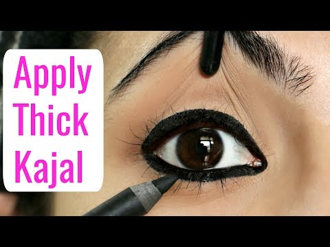 मोटा काजल कैसे लगाएं | How to Apply Thick Kajal & Eyeliners for Beginners | Anaysa