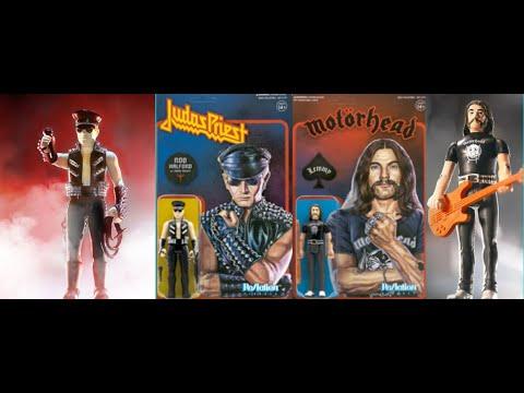 "Motörhead's Ian ""Lemmy"" Kilmister and Judas Priest Rob Halford figures from Super7"