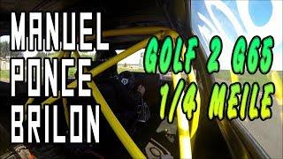 Manuel Ponce - Golf 2 G65 - Brilon 2014 1/4 Meile | G65-LADER.DE
