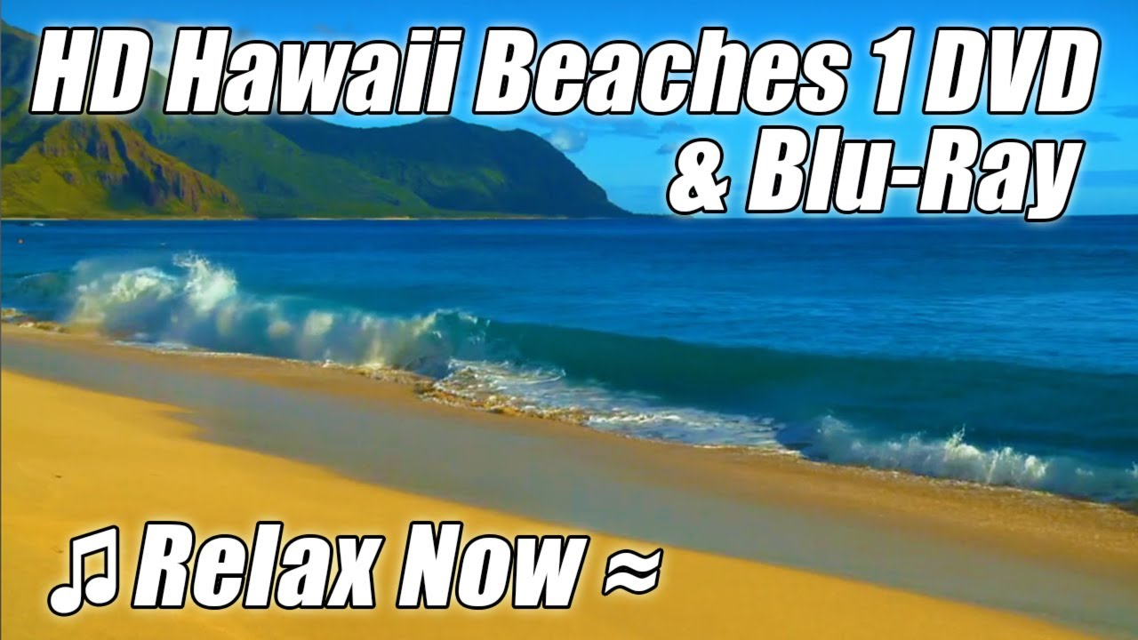 Tropical Island Beach Ambience Sound: #1 RELAXATION Video BEST HAWAII BEACHES Relaxing Ocean