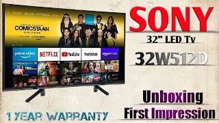 Sony Bravia 32 inch Led Tv 32W512D Unboxing and First Impression @ MEHROTRA ELECTRONICS