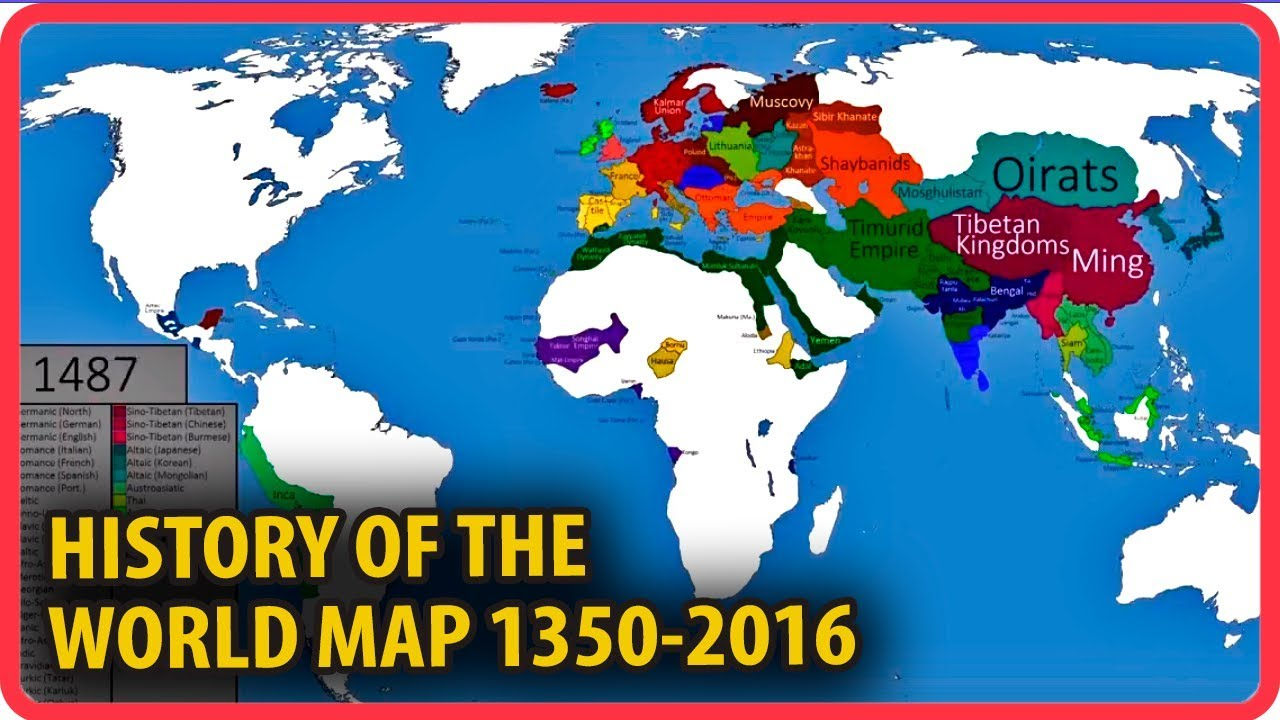 History of the world map changes from 1350 2016 youtube history of the world map changes from 1350 2016 gumiabroncs Image collections