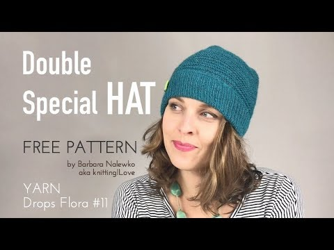 FREE PATTERN - Double Special HAT yarn Drops Flora - Finished Object ... bce7af79c
