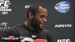 UFC 170 Daniel Cormier vs. Pat Cummins full video scrum with Daniel Cormier