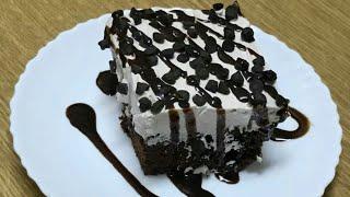 1 Min Microwave Chocolate Poke Cake||How to make chocolate poke cake without oven in urdu/hindi 2018