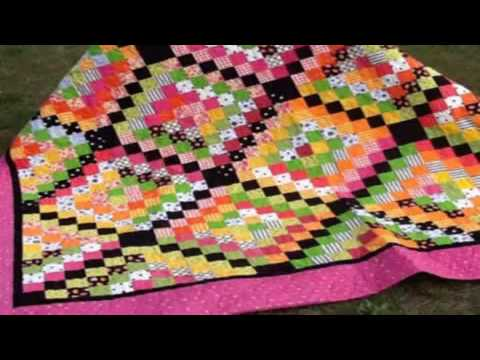 basic quilt blocks for beginners scrap quilt patterns for beginners - YouTube