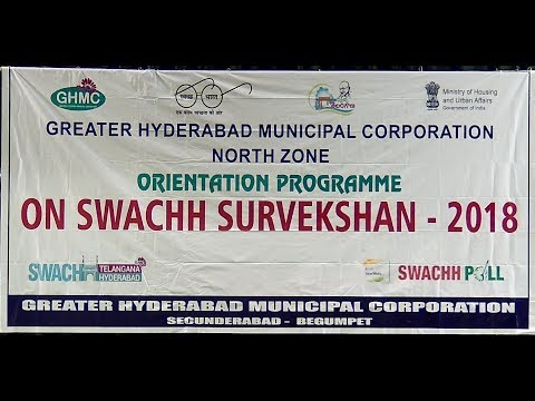 GHMC North Zone | Swachh Survekshan - 2018 | Orientation Programme | Live