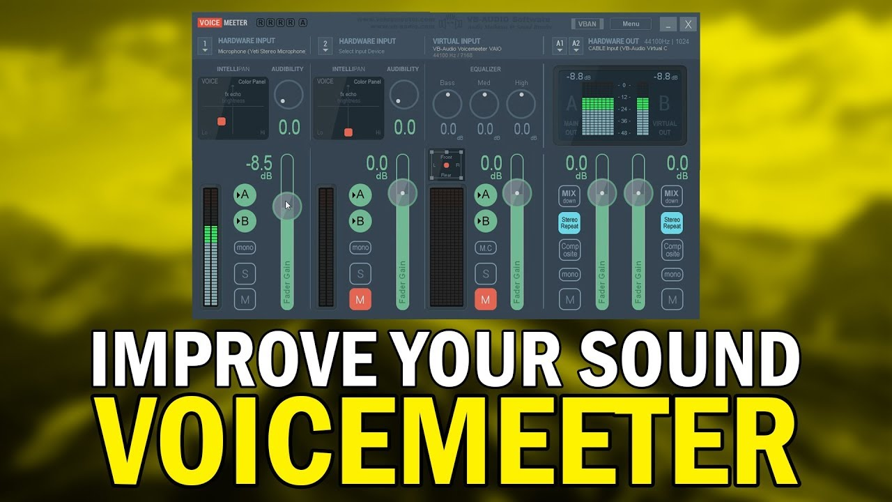 How to use voicemeeter