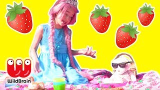 Princess Olivia's Strawberry Tea Party Goes Wrong 🍓 Princesses In Real Life | WildBrain Kiddyzuzaa