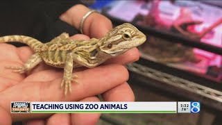 Classroom or zoo? Teacher brings science to life with pets