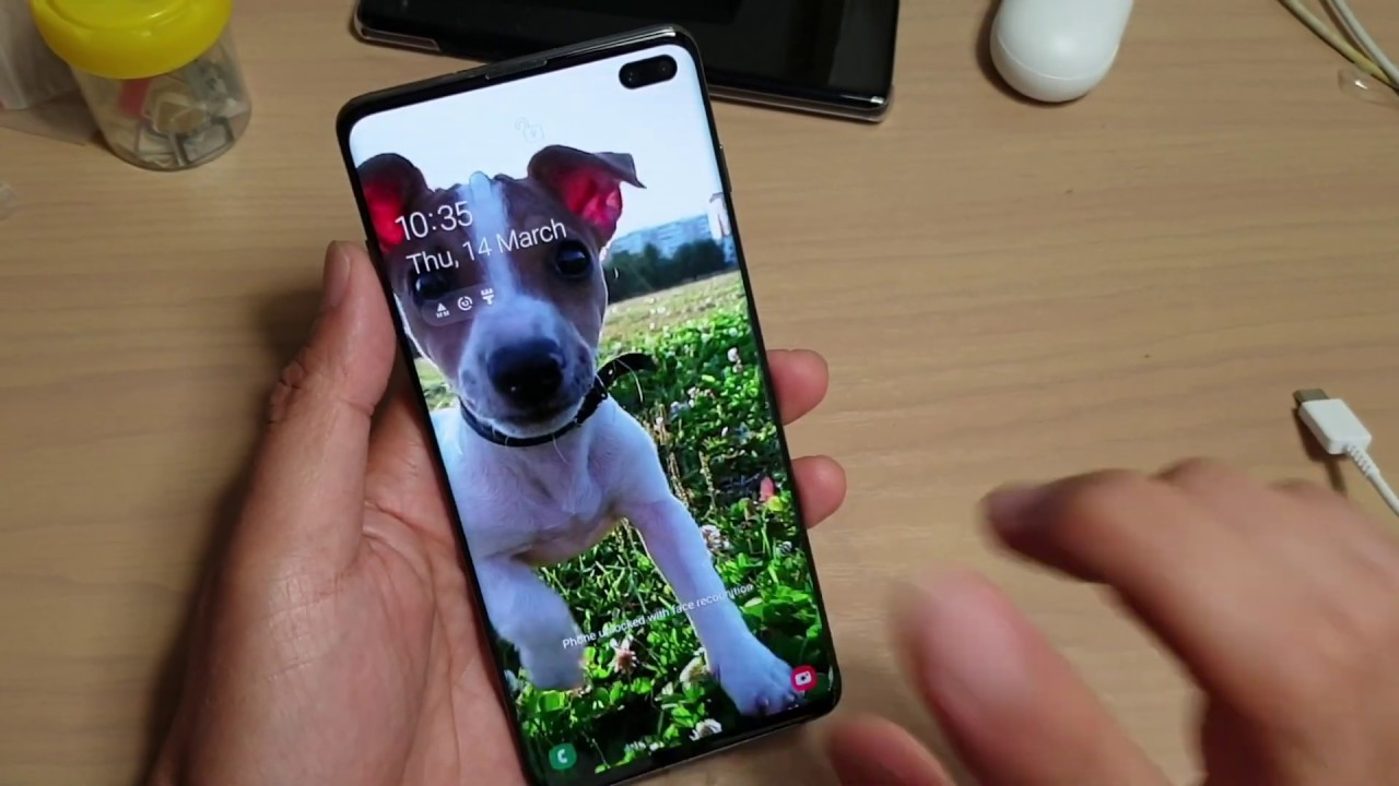 Galaxy S10 S10e S10 Set Video Wallpaper On Lock Screen Youtube